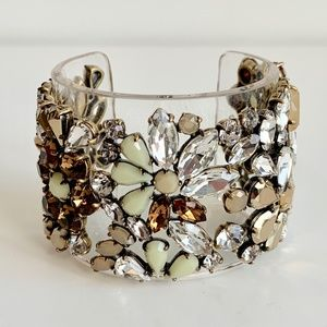 J Crew Resin Cuff Adorned w Multicoloured Crystals